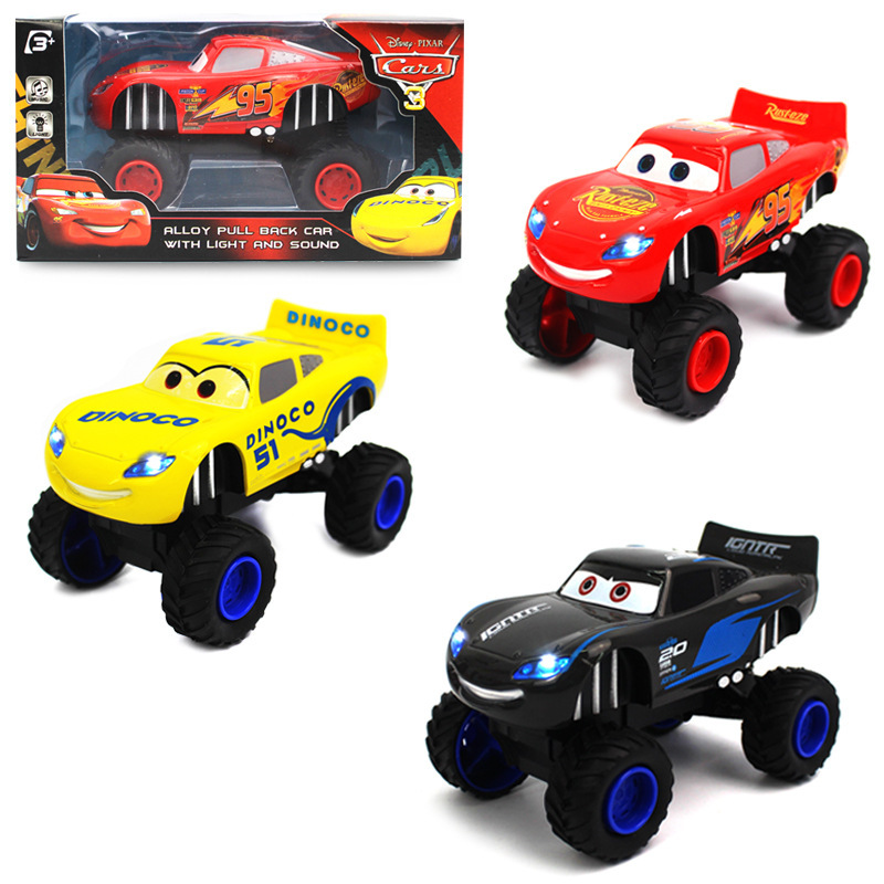 Disney children Cars 3 hotwheels Pull back car 1:32 pixar cars kids toys jackson storm Car model rayo mcqueen 13*8*7.8cm as gift