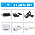 UNSTINCER HDMI to VGA Adapter Male to Female Converter Digital to Analog Video Audio Converter Support 1080P for Xbox PS4 PC
