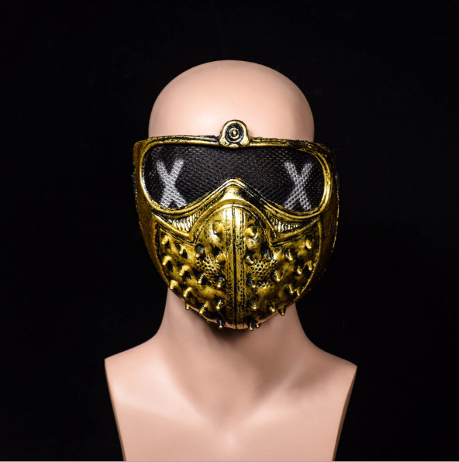 50pcs lot Street Dance Ghost Step Personality Death Cool Masks Halloween Punk Devil Cosplay Watch dogs 2 Mask in Party Masks from Home Garden