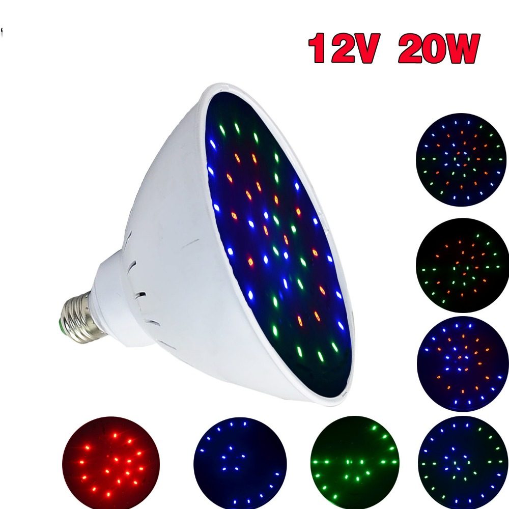 Shipping From USA 12V/20W Swimming Pool LED Light E26 Base For Pentair Hayward Fixture RGB Color Changing Light Bulbs ...