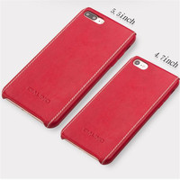QIALINO Genuine Leather Ultra Slim Back Cover For Apple For IPhone 8 Pure Handmade Phone Case