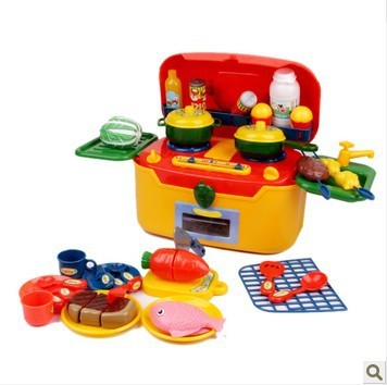 Free shipping bay toys plastic play pretend kitchen toys for Kitchen set portable