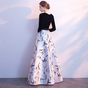 Image 5 - גלימת דה Soiree לונג אמיתי קפטן דובאי שחור ארוך שרוול אונליין ערב שמלות 2018 פורמליות ערב שמלות סין Vestido לונגו