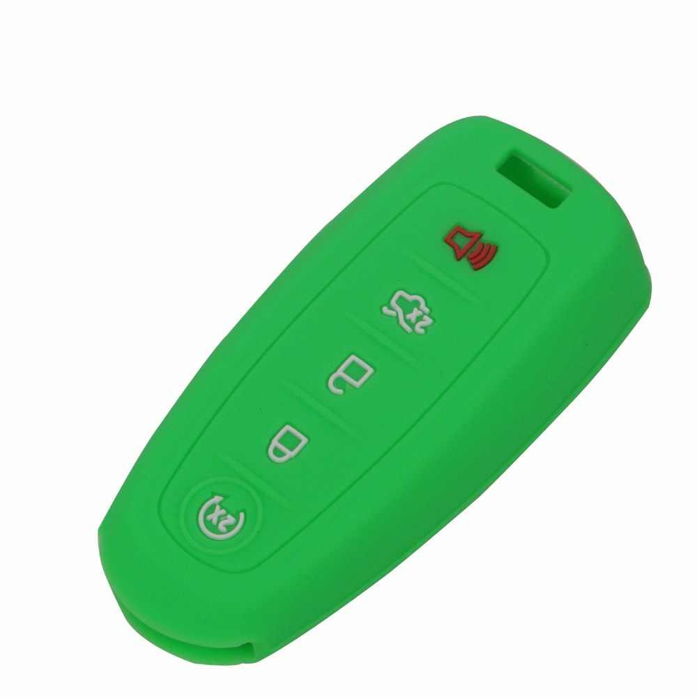 5 кнопки силиконовый чехол для ключей от машины для Ford Escape Explorer край Flex Focus Taurus Lincoln Mks Автомобильный ключ чехол для автомобиля
