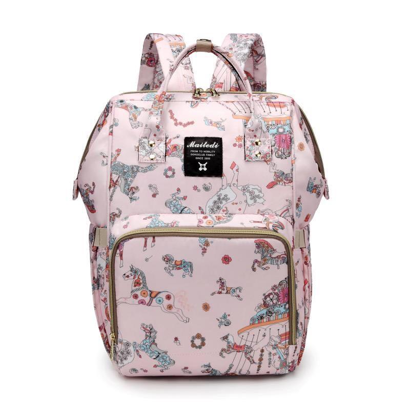 Large Capacity Mommy Maternity Bag Diaper Nappy Bag Bolsa Maternida Printed Bebe Bag Travel Backpack Desiger