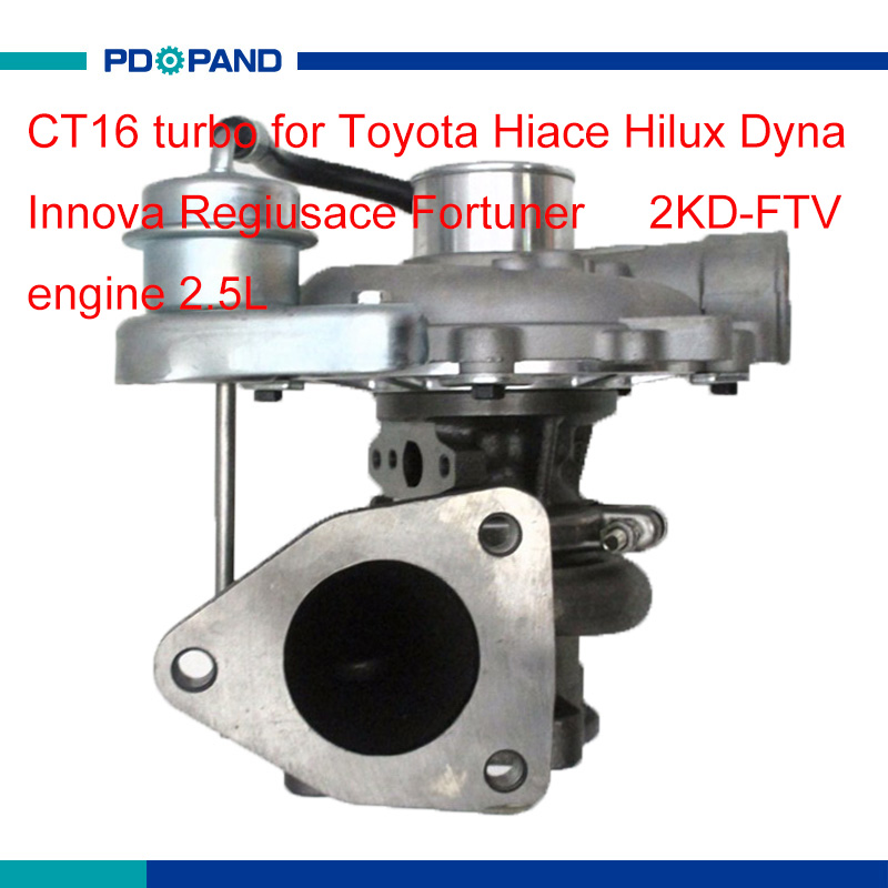 US $138 23 15% OFF 2KD FTV diesel engine turbo part CT16 supercharger for  Toyota Hiace Hilux Dyna Regiusace Fortuner 2 5L 172010L030 1720130120-in