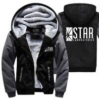 S.T.A.R. STELLA labs felpe caldo pile addensare uomini felpe inverno 2018 il flash giacca moda cappotto M-4XL Con Zip Con Cappuccio