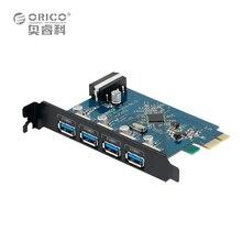 ORICO PVU3-4P De Bureau 4 Port USB3.0 PCI Express Card pour Ordinateur Portable-Noir