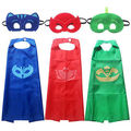 2017 New PJ Mask Cape and Mask 2PCS Children Set PJ Mask Superman Costume kids birthday party favor Toddler Kids Clothing Set
