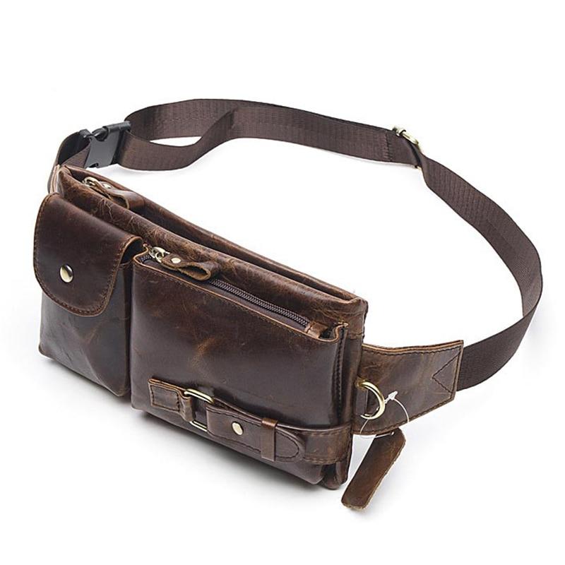 Γνήσια δερμάτινη τσάντα παπουτσιών τσέπης παπουτσιών Vintage μέση υψηλής ποιότητας πολυλειτουργικό μαλακό δέρμα παπούτσι παπουτσιών μέσης τσάντας τηλέφωνο πορτοφόλι τσάντα ταξιδιού