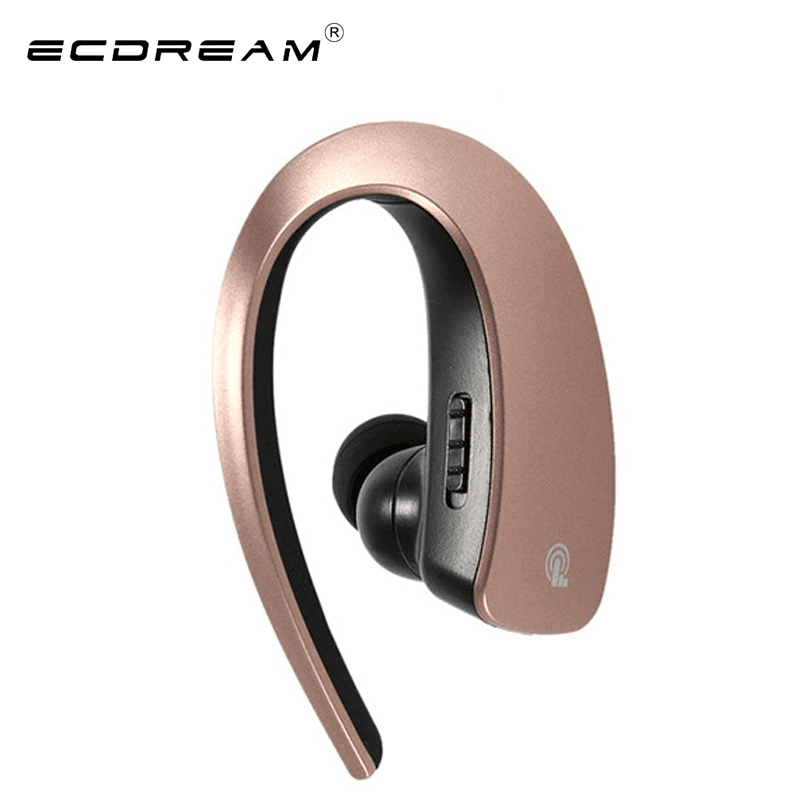 ECDREAM original bluetooth wireless earphone voice control stereo headphone single right side headset for smart phone hands free