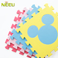 Hot sale 10 Pcs/set  100% cotton velvet tufted fabric Eva Foam Mats kids Play Puzzle Carpet 30*30 Free Shipping