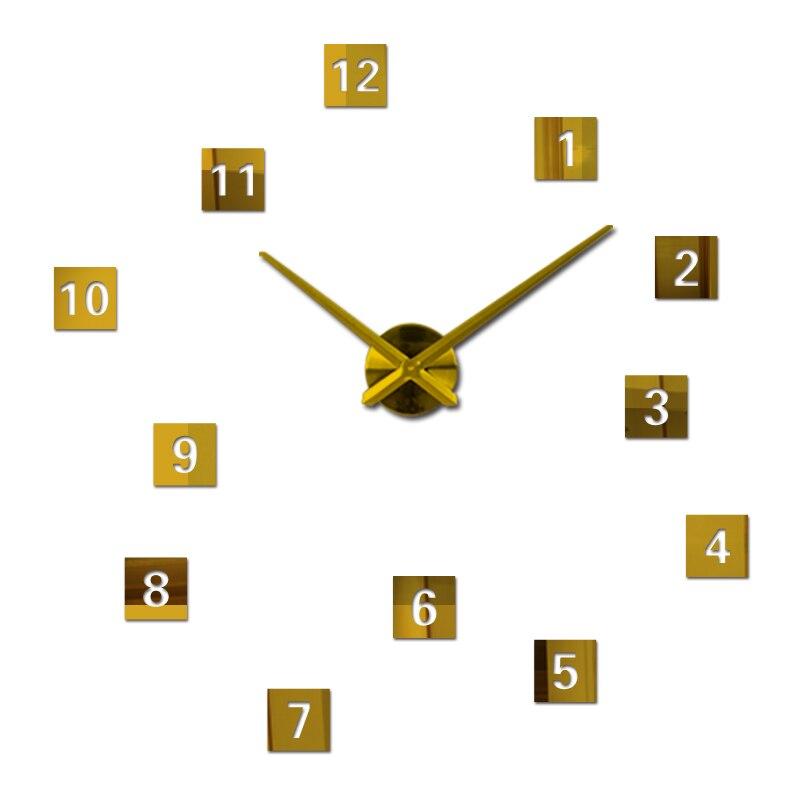 Nové nástěnné hodiny reloj de pared quartz sledovat evropa horloge domácí obývací pokoj 3d akrylové zrcadlo vintage hodiny