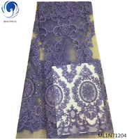 BEAUTIFICAL african lace fabric with sequins french laces with embroidered lace fabric for dresses latest design ML1N712