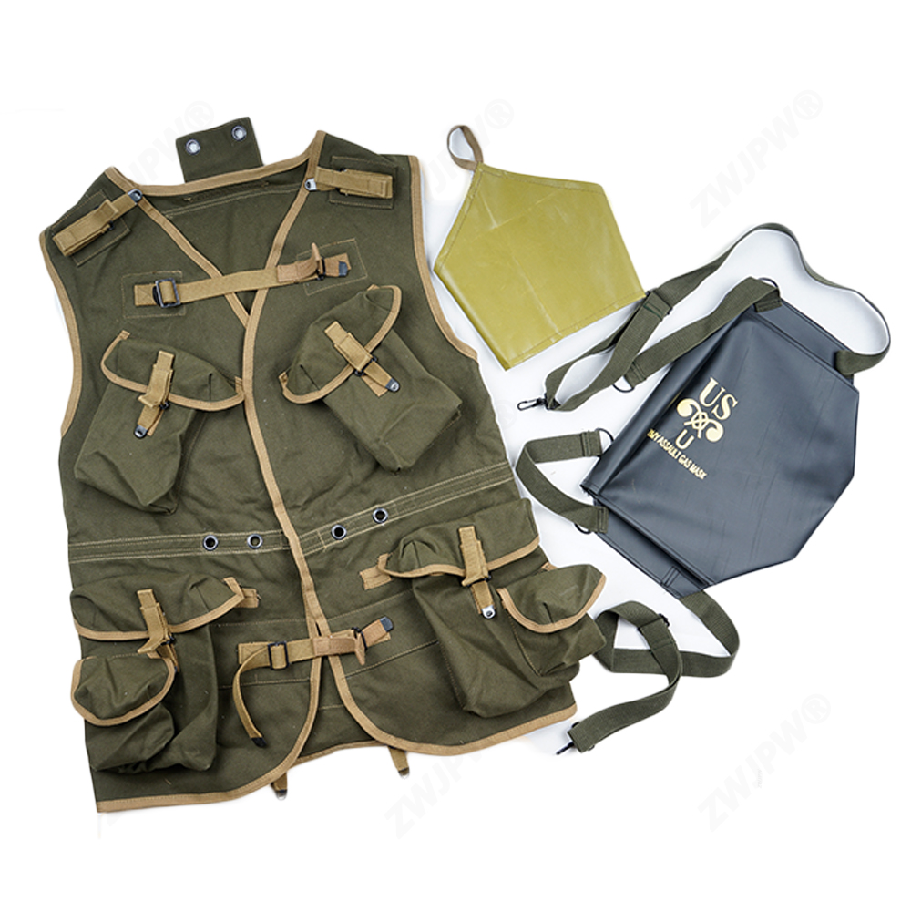 WW2 US ARMY BASIC D-DAY ASSAULT TROOP PACKAGE ARMY GREEN EUIPMENT цена и фото