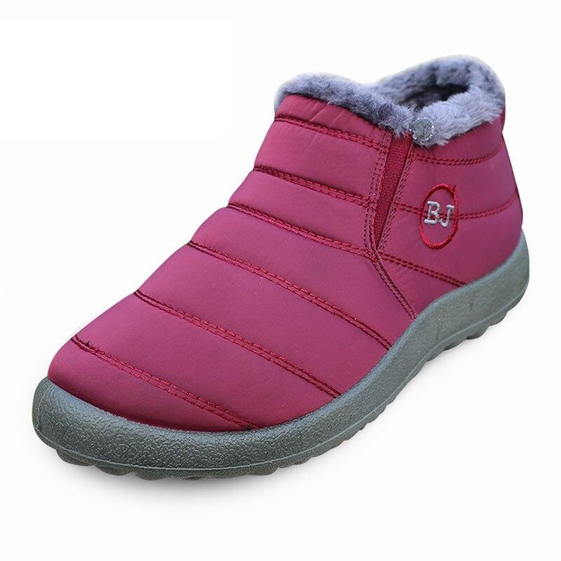 Cotone Stivali Di Caldi Caviglia Donne Black Neve Impermeabile red gray Inverno Da blue IRqwnCT