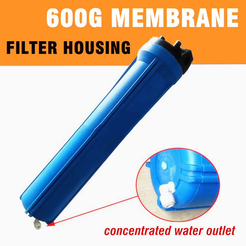 Standard 20 Blue Water Filter Housing 3020 RO Membrane Housing Bottle With Quick Fittings For 600 Gallon RO Membrane 20 standard water filter housing