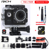RICH Action Camera 4K Upgraded Version F60 F60R Action Camera Wifi 2 0 Screen 170 Wide