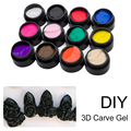 Saviland 3D UV Patterns Gel Modelling Carving Sculpting Painting Coloured Nail Art Tips Decoration DIY Manicure Tools
