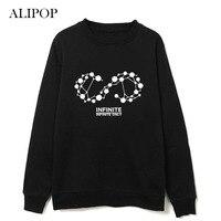ALIPOP KPOP K-POP INFINITA SÓLO Disco F Hoodie Ropa Pullover Impreso Camisetas Largas de la Manga Hoodies Ocasionales del Algodón WY352