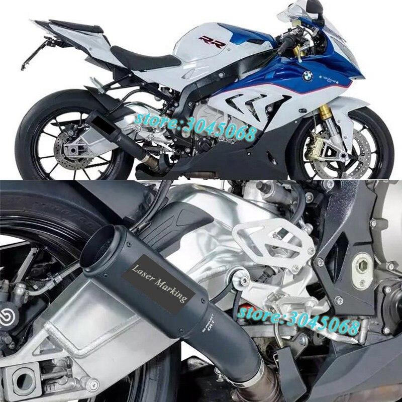 Motiviert S1000rr Motorrad Auspuffrohr Escape Motorrad Laser Kennzeichnung Schalldämpfer Link Rohr Slip Auf Für Bmw S1000 S1000rr 2010-2014 Auspuff Und Auspuffanlagen