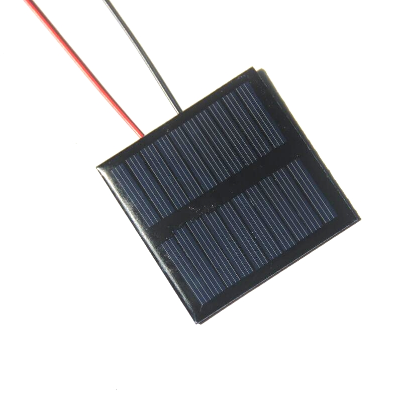 BUHESHUI Polycrystalline Epoxy 0.45W 5V Mini Solar Cell Module With Wire/Cable DIY Solar Panel Charger For 3.6V Battery 60*60MM