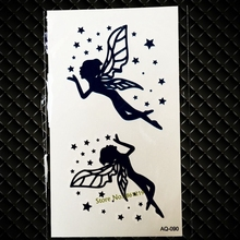 Beautiful Angel Fairy Temporary Tattoo Sticker For Women Girls Arm Tattoo Waterproof Body Shoulder Art Fake Tattoo Sticker GAQ90