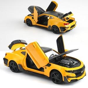 Image 2 - 1:32 Hot Alloy Diecast Car Models for Camaro Door Open Super Hornet Juguetes Cars Toys for children kids adult birthday gift