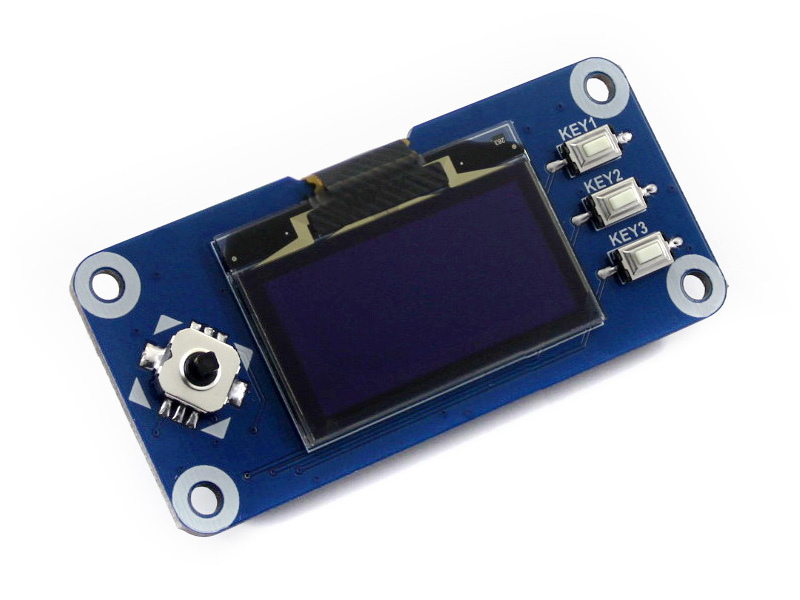 Image 2 - Waveshare 1.3inch OLED display HAT for Raspberry Pi 2B/3B/3B+/Zero/Zero W,128x64 pixels,SPI,I2C interface,embedded controller-in Demo Board from Computer & Office