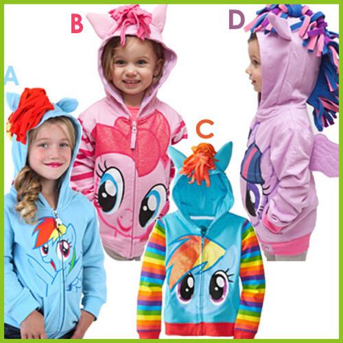 Nuevos Hoodies de Las Muchachas Casual Baby Girl Sudaderas de Algodón Lindo Pony Niños Abrigos Con Capucha para 1-5 Años