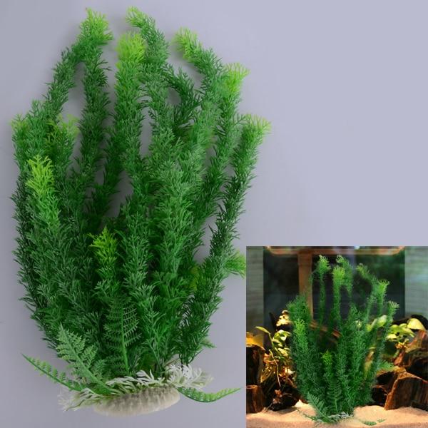 Green Grass Plastic Artificial Water Plant for Aquarium Fish Tank Ornament Decoration 45cm