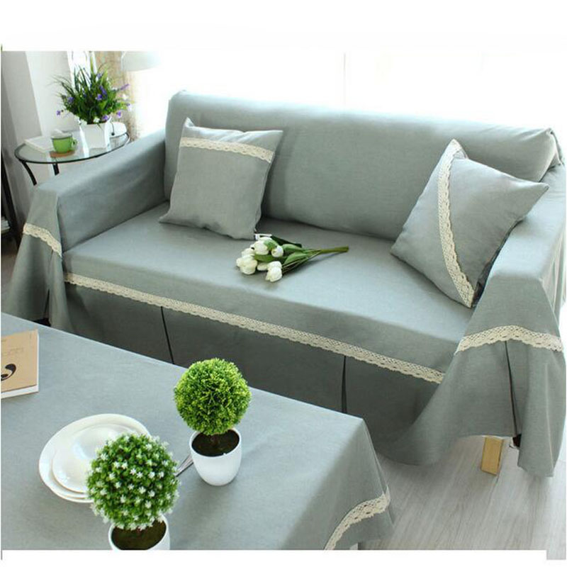 US $11.1 20% OFF|Japan Fine Cotton Linen Single/Two/Three Seat Four Seasons  Sofa Cover Slip resistant Anti Mite Slipcover Couch Cover Home Decor-in ...