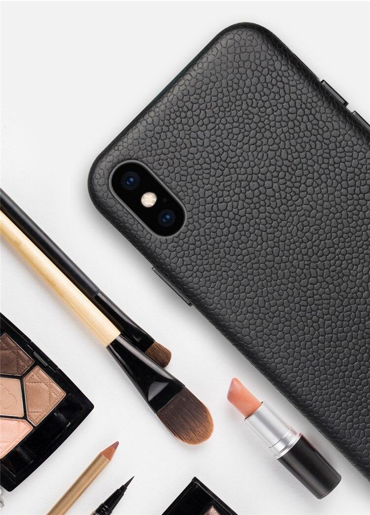 QIALINO Fashion Ultra Thin Back Case Luxury Genuine Leather Phone Sleeve Cover