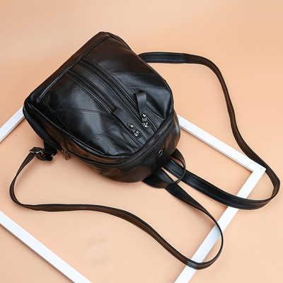 2019 Модный женский рюкзак высококачественный Молодежный кожаный рюкзак для девочек-подростков женская школьная Сумка Через Плечо Рюкзак mochila