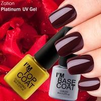 Zation Base Coat Top Nail Polish Transparent Top Coat Varnish Colorless Gel Polish Primer Lamp Nail Beauty UV Gel Lacquer Enamel