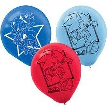 12個ソニック風船ハリネズミラテックスバルーン誕生日パーティーの装飾パーティー用品おもちゃ子供のためのグロボス