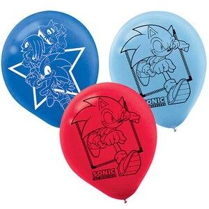 Image 1 - 12pcs סוניק בלוני קיפוד לטקס בלון מסיבת יום הולדת קישוטי ציוד צעצועי לילדים Globos