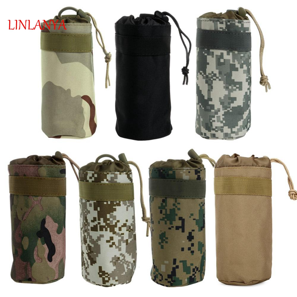 LINLANY 7 Color Camouflage High Quality Tactical Military System Water Bottle Bag Kettle Pouch Holder Bag