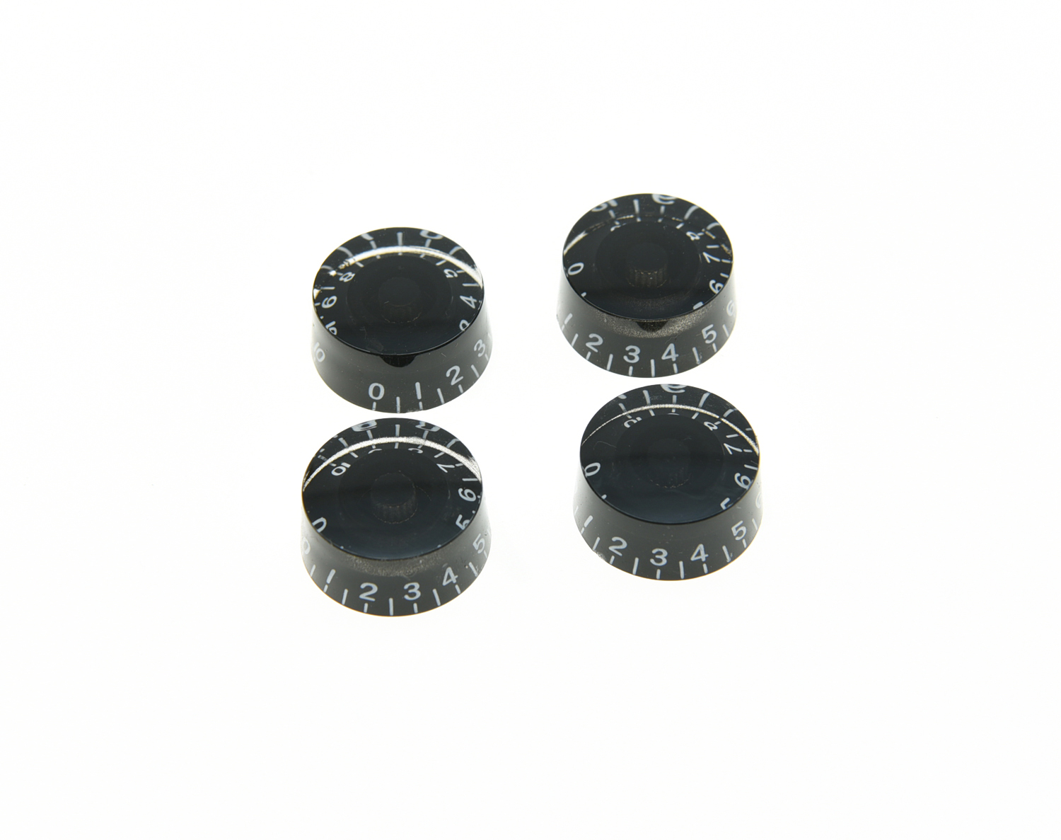 KAISH 4x Black LP Guitar Knobs, Control Knobs Speed Knobs kaish black p90 high power sound neck