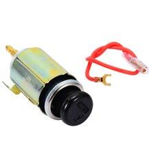1set 12V Universal Auto Car Cigarette Lighter Durable Plug Connector Head+Socket Assembly