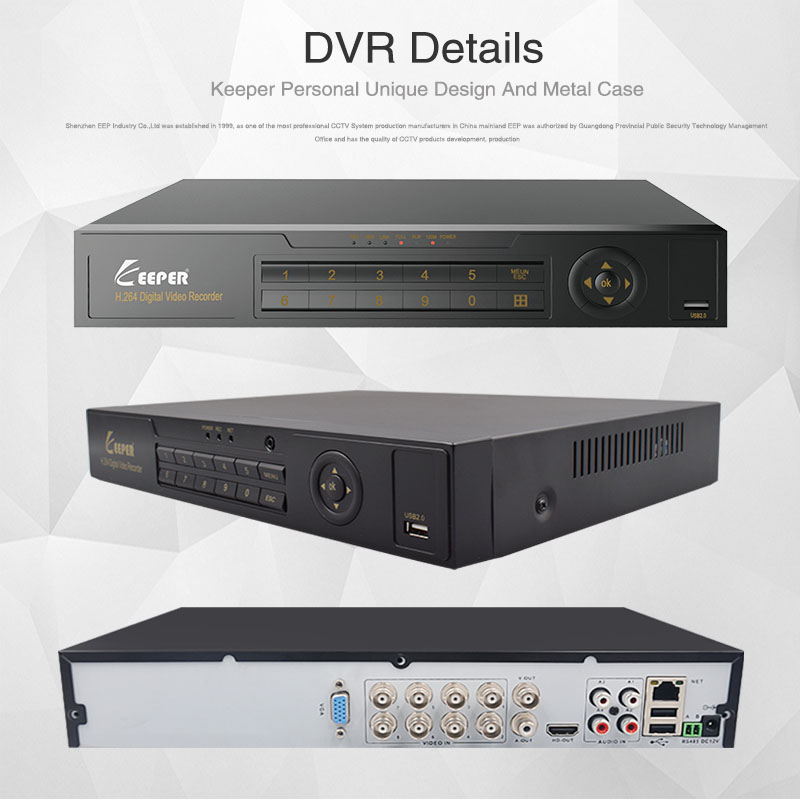 Image 5 - KEEPER 8 Channel 1080P AHD Full HD 5 in 1 Hybrid DVR Surveillance Video Recorder For AHD Camera TVI CVI AHD CVBS IP Camera-in Surveillance Video Recorder from Security & Protection