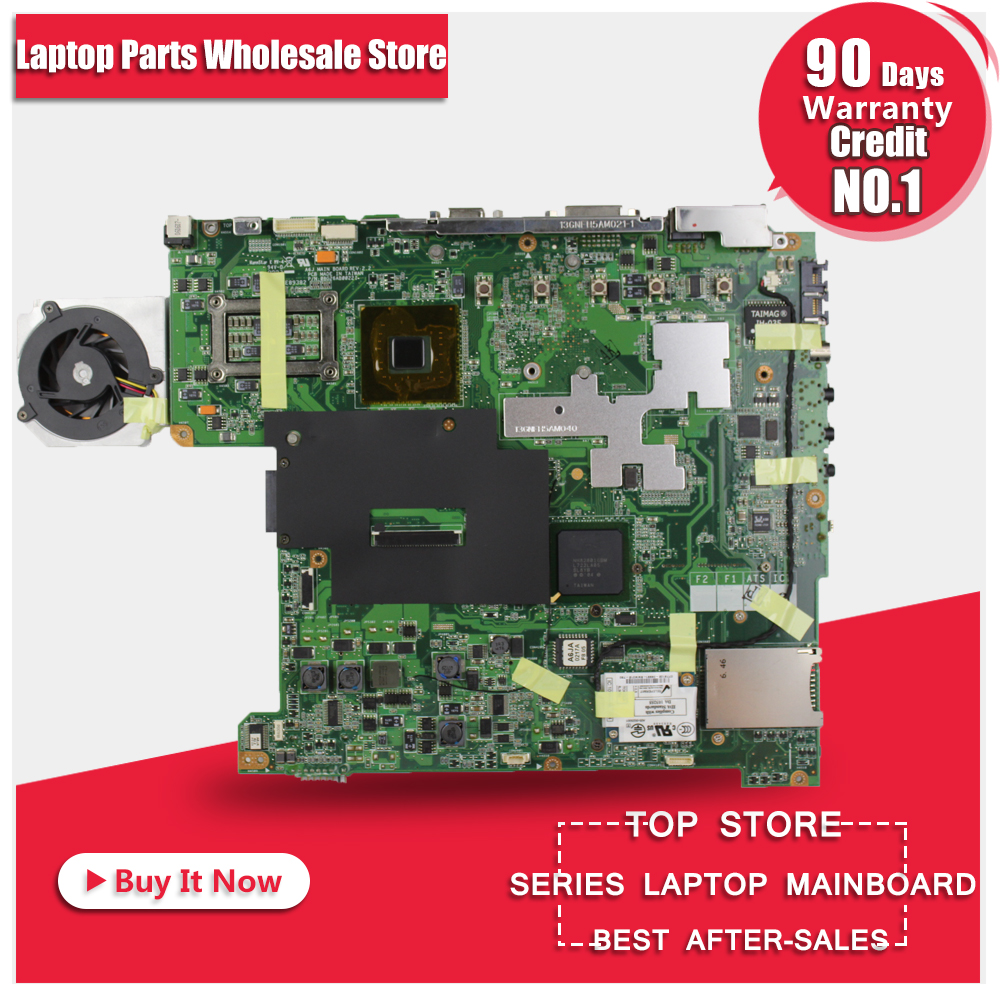 все цены на A6JA Mainboard For ASUS A6J A6JA A6JC A6JM Z92J Laptop Motherboard 100% Tested Free Shipping онлайн