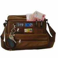Yeni Tuval Çok fonksiyonlu Çanta Çok cep Erkekler Kadınlar Çanta Büyük Kapasiteli Kart Anahtar Para Muhtelif Telefon Pad bagaj Tote Çanta