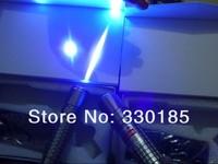 High Power 405nm 10000M 1W Hunting violet blue laser pointers lazer Flashlight Burning Match burn cigarettes+gift box Teaching