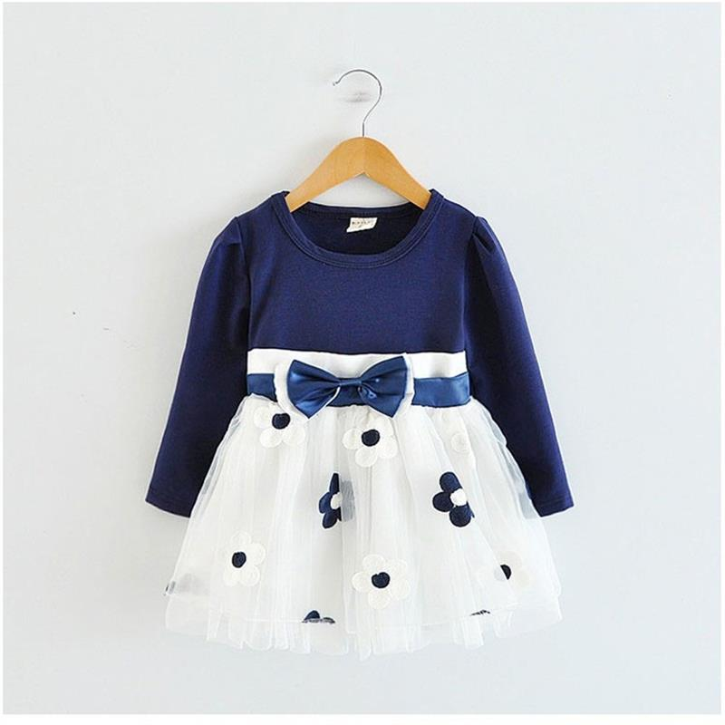 Kids Dresses for Girls 2017 Summer Cotton Flower Baby Dress Clothes 1 year Newborn Girl Clothing vestido infantil de bebes fille