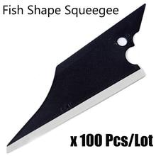 EHDIS 100Pcs Conquerer Squeegee with Rubber Edge Window Tint Tools Carbon Fiber Film Vinyl Car Wrap Tool Cleaning Tool Scraper
