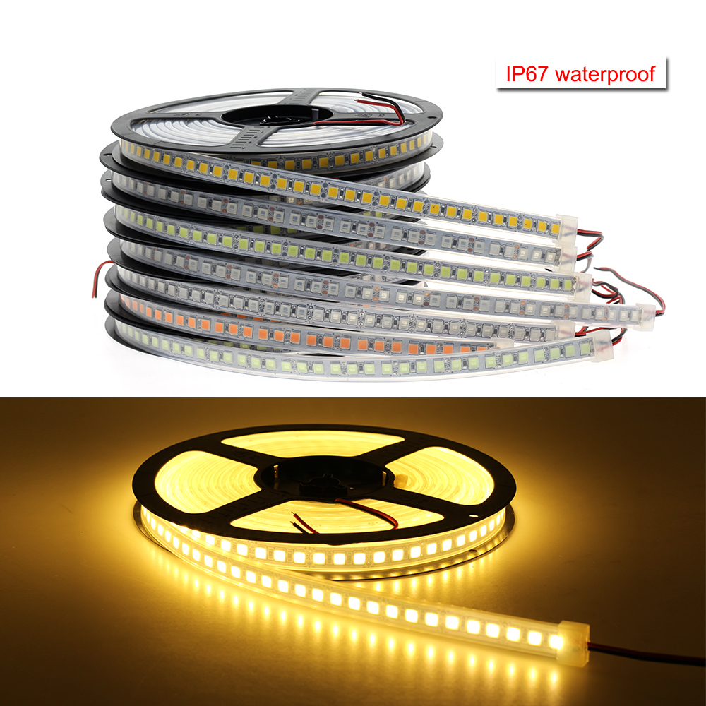 30cm Vehicle Yellow Flexible LED Strip Lights 18pcs 5050 SMD Waterproof IP-65