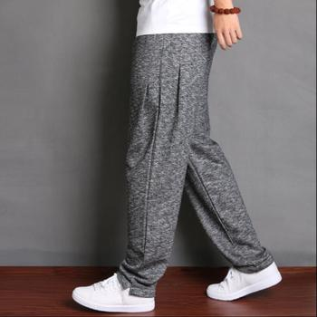 M-5xl Spring And Autumn Men's Casual Harem Pants Loose Large Size Cotton Pants Plus Fat Sports Feet Pants Plus Velvet Trousers