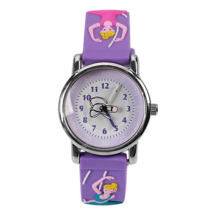 Children silicone ballet wristwatches waterproof kid watches brand quartz wrist watch baby for for Watches brands for girl