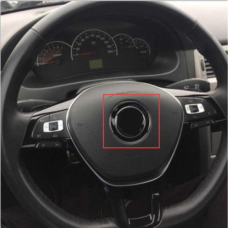 45mm R SR mauvais lapin Wolfsburg G TI réaménagement Logo mince Aluminium noir autocollant voiture style volant Center emblème pour VW